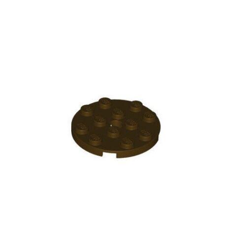 Plaque ronde Lot x4 Lego marron f//dark brown Round Plate 4x4-6005030