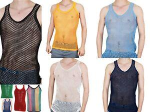 Chaleco-de-malla-ajustada-de-cadena-de-hombre-100-Algodon-Gimnasio-Camiseta-sin-mangas-sin-Mangas