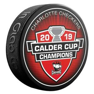 2019-AHL-Calder-Cup-Champions-Charlotte-Checkers-Souvenir-Hockey-Puck