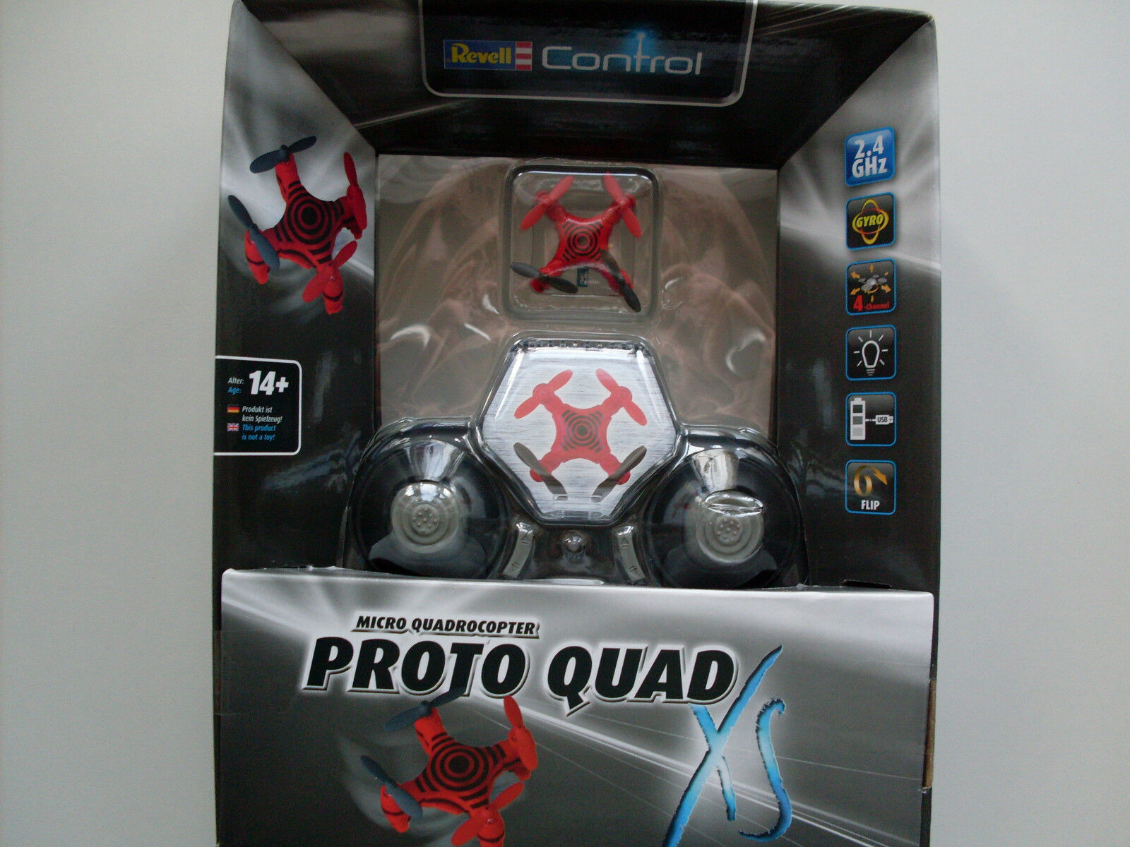Predo Quad Red, Quadrocopter 4CH 2,4 GHz, Revell Control Helicopter, 23933