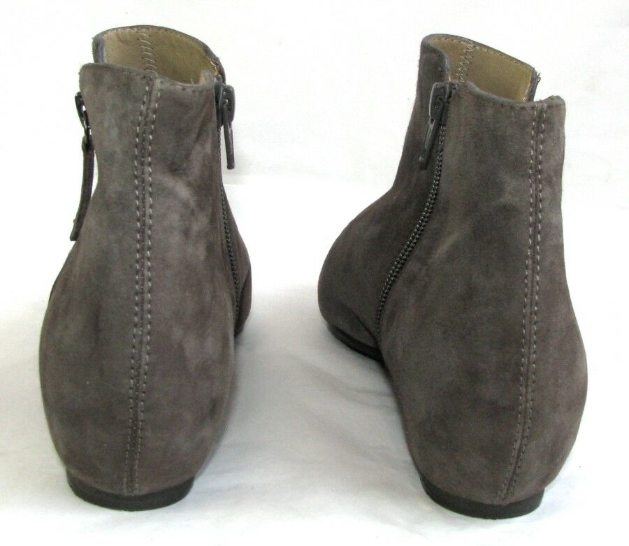 UNISA Bottines petits talons invisibles cuir velours velours velours taupe 37 COMME NEUVES 435d93