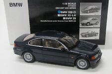 BMW 328 Ci ( 1999-2005 ) E46 / dunkel blau / Kyosho 1:18