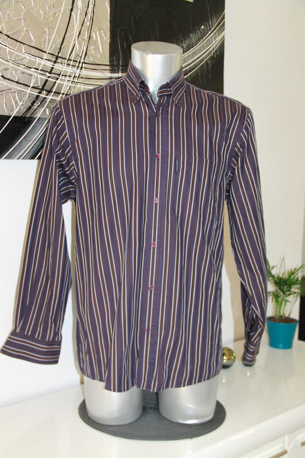 Carino a camicia blu a Carino righe EDEN PARK rugline Taglia M ECCELLENTI CONDIZIONI 2a2789