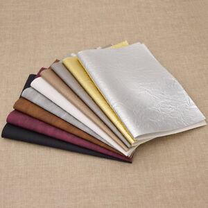 29-21cm-Kraft-Papier-Muster-Faux-PU-Leder-Stoff-For-DIY-Knotbow-Kunsthandwerk