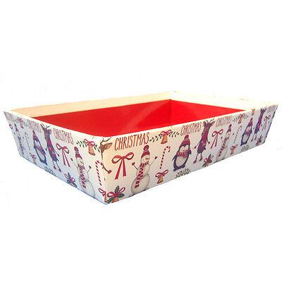 10 x XMAS Gift Basket Hamper Printed Cardboard Tray - CHRISTMAS CHARACTERS