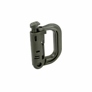 Tactical-Shackle-Carabiner-D-ring-Clip-Molle-Webbing-Plastic-Backpack-Buckle
