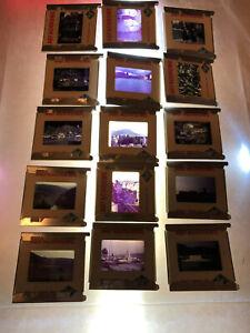Lot-of-Vintage-1960-039-s-Projector-Slides-Amsterdam-to-Innsbruck-World-Trip-Color
