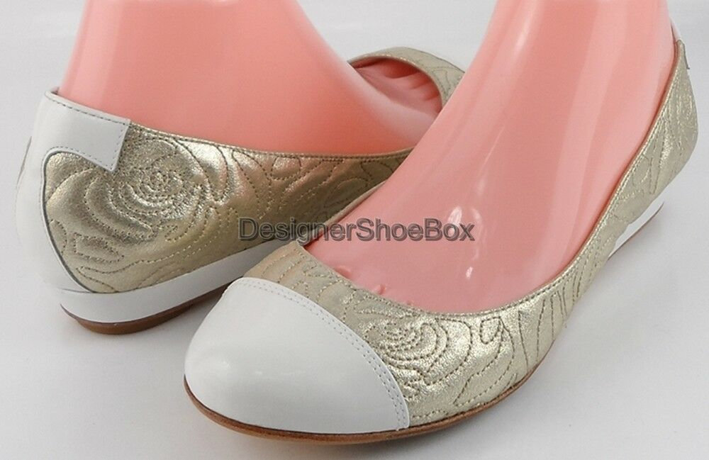 249 TARYN rosa PAMONA Soft oro Suede Patent Designer Pumps WORN ONCE 10.5