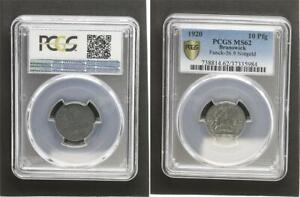 Brunswick 10 Pfennig 1920 Kriegsnotgeld Mint State, Zinkpatina PCGS MS62