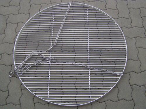 100 cm Edelstahl Grill Rost 6 mm Stäbe mit Kette f Feuerschale Dreibein Schwenke