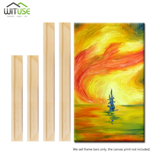 Solid Canvas Stretcher Frame Premium Pine Art Wood Strips Bars For Oil Paintings