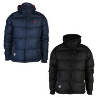 NEW MENS KANGOL HOODED ZIP UP BUTTONED PUFFER COAT PADDED JACKET SIZE S-XXL