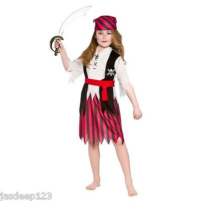Pirate Girls Fancy Dress Costumes Childrens Kids Book Week Halloween Ages 3-13