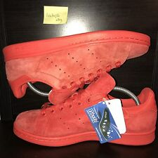 Adidas Stan Smith Red/Red-Power Red Suede S75109 Men's SZ 8.5