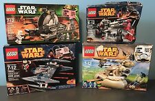 LEGO 75034 Death Star Troopers, 75015 Tank Droid, 75073 Vulture Droid, 75080 AAT