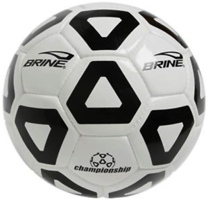 BRAND NEW Brine NFHS Championship Soccer Ball Size 5 in Black and white