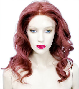 Full-Lace-Wig-Glueless-Remi-Remy-Indian-Human-Premium-Hair-Auburn-Red-IN-STOCK