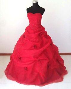 eBay Red Wedding Dress