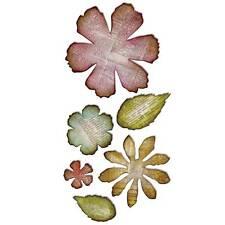 *Sizzix Tim Holtz Die JUMBO TATTERED FLORALS BigZ XL Flowers Leaves 659441