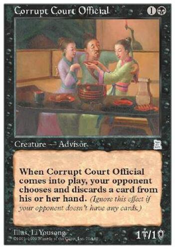 Corrupt Court Official MTG MAGIC P3K Portal Three Kingdoms Eng