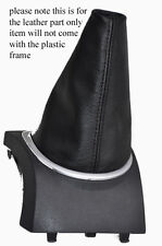 FITS RENAULT CLIO MK3 LEATHER GEAR GAITER BLACK  2005-2013