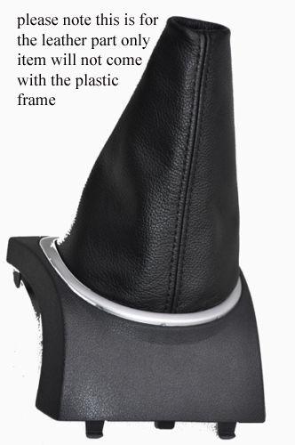 LEATHER GEAR GAITER ONLY BLACK STITCH FITS RENAULT CLIO 2013