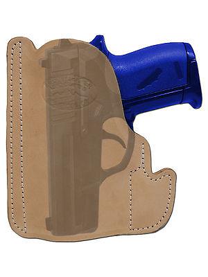New Barsony Tan Leather Gun Pocket Holster Taurus Beretta Small Mini 22 25 380