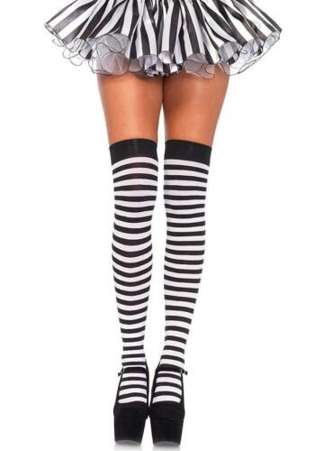 Striped Thigh Highs Stockings Fancy Dress Halloween Costume Accessory 16 COLORS