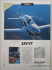 9/1990 PUB SOCATA AEROSPATIALE OMEGA AIRCRAFT MILITARY TRAINER FARNBOROUGH AD