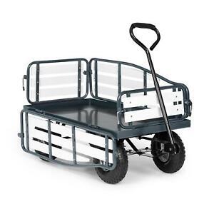 Chariot-a-main-remorque-charrette-charge-lourde-300-kg-acier-WPC-100x50cm-Noir