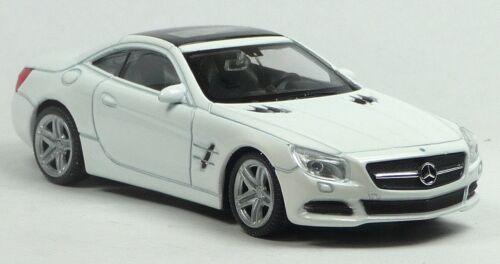 Mercedes-Benz SL 500 weiß Sammlermodell ca 10 cm Neuware von WELLY 1:43