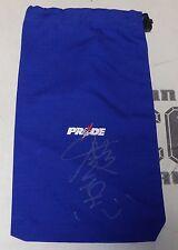Kazushi Sakuraba Signed Pride FC Glove Bag BAS Beckett COA UFC Champ Autograph