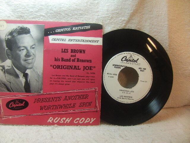 """Les Brown + Band of Renown – Original Joe 1957 1-side Demo 7"""" Capitol CL 14706"""