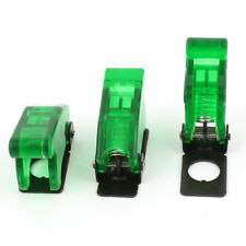3 X Waterproof Green Plastic Toggle Switch Flip Safety Cover Protection Cap 12mm