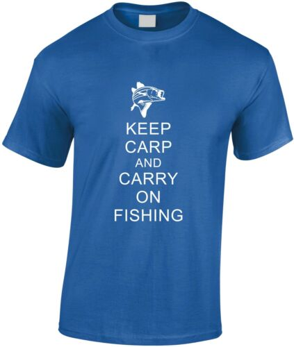Keep Carp And Carry On Fishing Children/'s T-Shirt Kid/'s Angler Youth Fish Hook