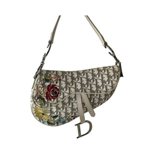 Christian Dior Vintage Flower Saddle Bag
