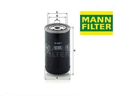 1 filtri lavoro idraulica MANN-FILTER W 950//7 CHRYSLER FORD NISSAN TALBOT VOLVO