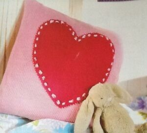 Details About Knitting Pattern Instructions How To Make A Chic And Simple Love Heart Cushion