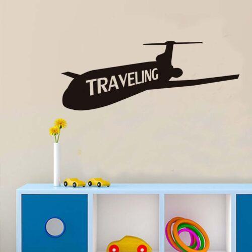 Modern Design Traveling Airplane Vinyl Wall Sticker Airplanes Home Decor