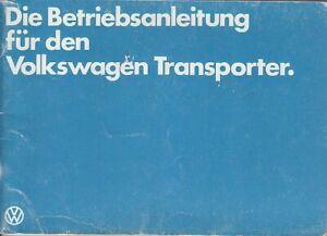 VW-Bus-T3-Betriebsanleitung-Bedienungsanleitung-Juni-1981