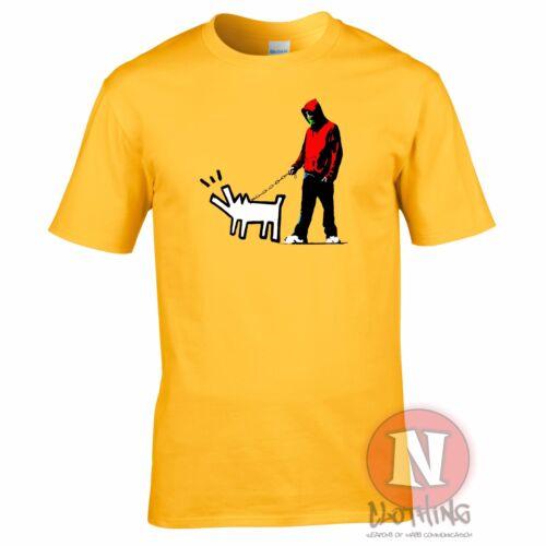 Banksy Harings dog street art graffiti design print t-shirt exclusive