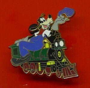 Used-Disney-Enamel-Pin-Badge-Goofy-Character-on-a-Train-2008