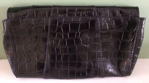 in nera pelle coccodrillo ideale regalo stampa Pochette coccodrillo vera qxfvvE