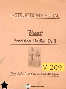 veet 3 foot radial drills instructions and parts manual ebay rh ebay com