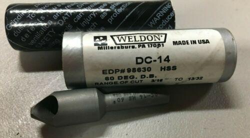 """WELDON Countersink 3//16/"""" 13//32/""""  60° HSS DC-14 98630"""