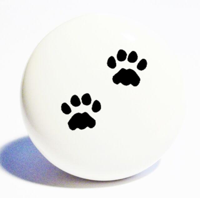PAW PRINTS DOG HOME DECOR CERAMIC KNOB DRAWER CABINET PULL