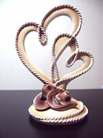 Cowboy Wedding Topper With Hearts -
