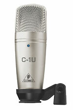 BEHRINGER C1U - USB Studio Condenser Mic C-1U with Software Suite **BRAND NEW **