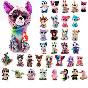 "6/"" TY Beanie Boo Sierra Malibu Jade Whimsy Fudge Pixy Begonia Iris Plush Toys"