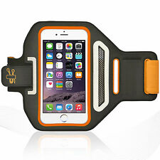 "iPhone 6/6S 4.7"" Orange Lycra Armband Running Reflective CreditCard Holder"